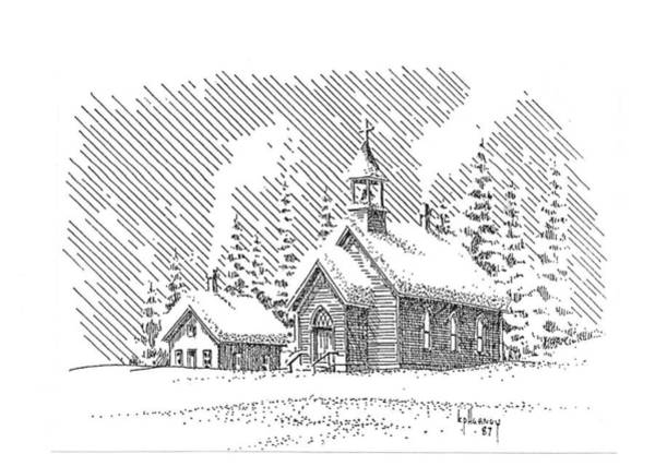 Drawing - Christmas Eve by Kevin Heaney