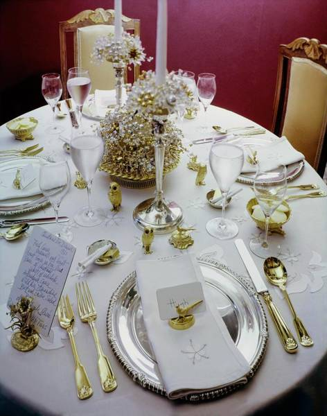 Wall Art - Photograph - Christmas Eve Table Setting by Ernst Beadle
