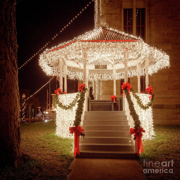 Photograph - Christmas Gazebo by Imagery by Charly