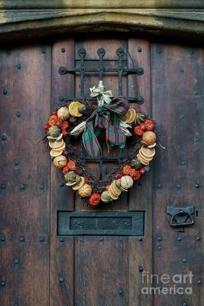Photograph - Christmas Heart Wreath by Tim Gainey