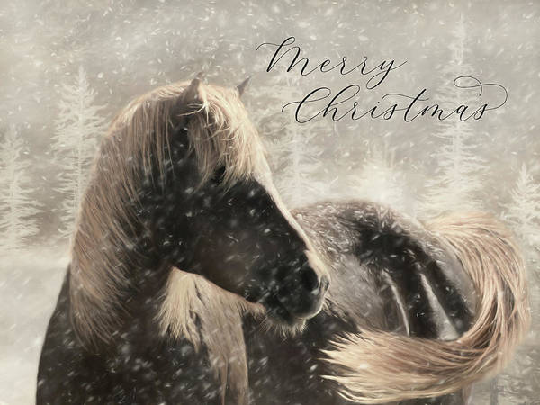Wall Art - Mixed Media - Christmas Horse by Lori Deiter
