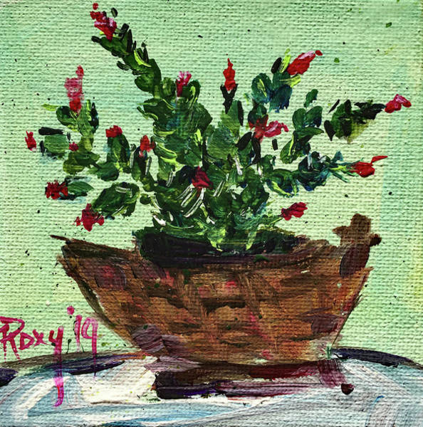 Wall Art - Painting - Christmas In A Basket by Roxy Rich