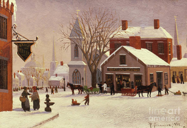 Painting - Christmas In Connecticut, 1880 by Franklin Stanwood