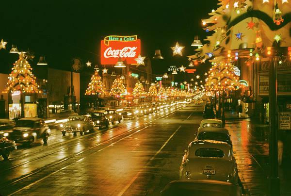 Hollywood Photograph - Christmas In La by Harvey Meston