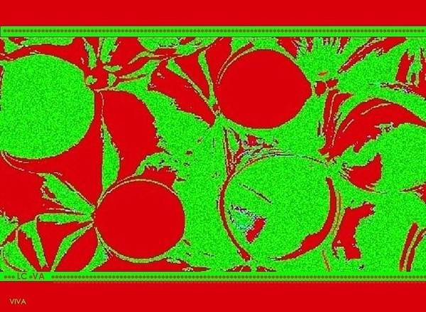 Mixed Media - Christmas In  Oz  Abstract by VIVA Anderson
