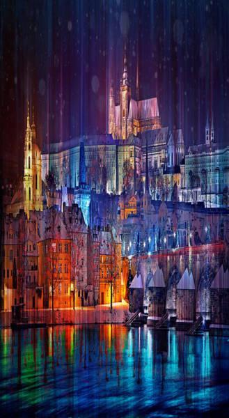 Czech Digital Art - Christmas In Prague by Tim Palmer