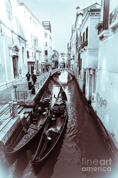 Photograph - Christmas In Venice.monochrome.wintertime by Marina Usmanskaya