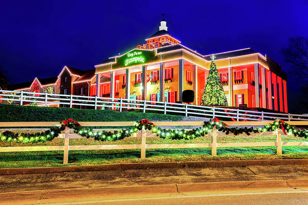 Photograph - Christmas Lights At Dolly Parton's Dixie Stampede - Branson Missouri by Gregory Ballos