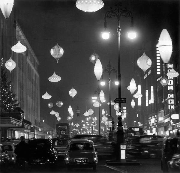 1961 Photograph - Christmas Lights by George Freston