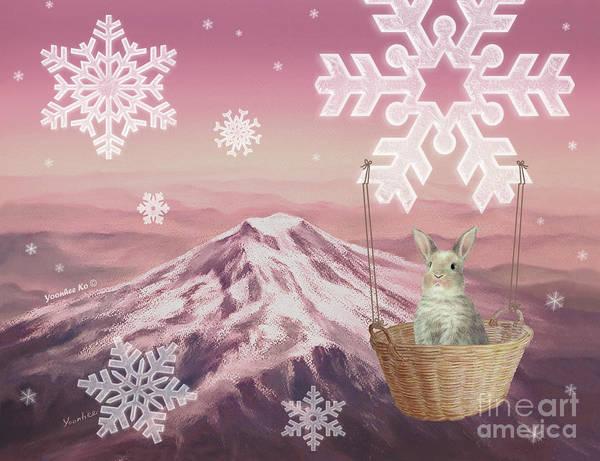 Mount Rainier Painting - Christmas Magic by Yoonhee Ko