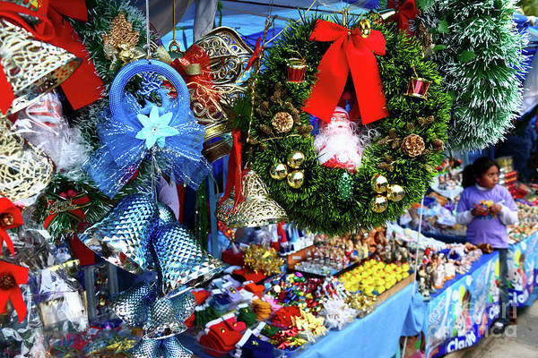 Photograph - Christmas Market Stall by James Brunker