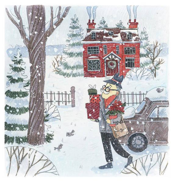Trimming Painting - Christmas Morning by Ema Malyauka