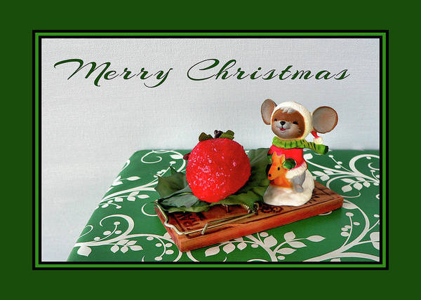Photograph - Christmas Mouse by Kathy K McClellan