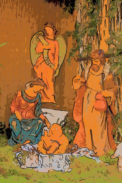 Wall Art - Photograph - Christmas Nativity Scene  by Gone With The Wind