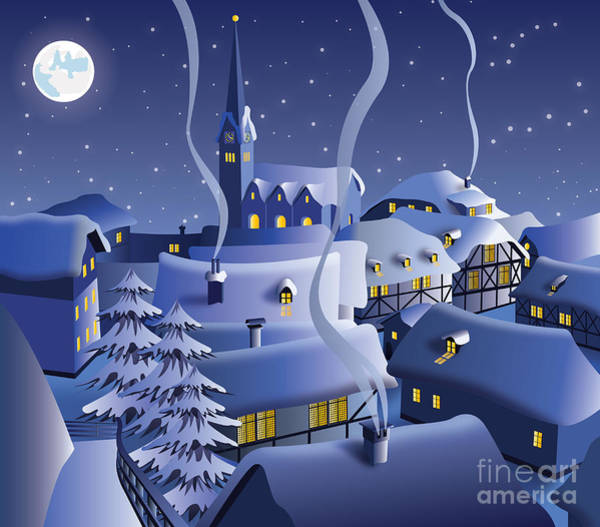 Wall Art - Digital Art - Christmas Night by Nikola Knezevic