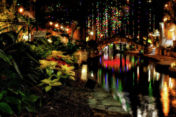 Photograph - Christmas On The Riverwalk - San Antonio by Jason Politte