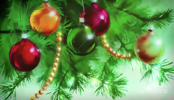 Digital Art - Christmas Ornaments  by D Hackett