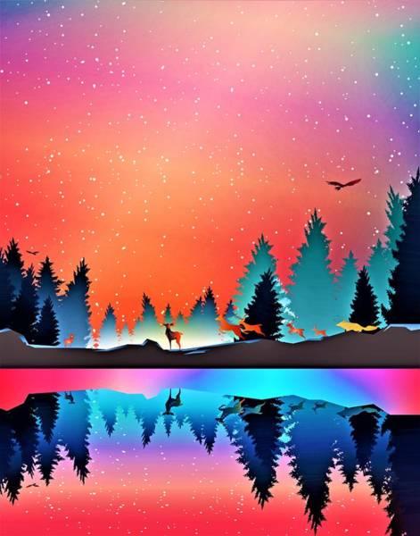 Reflections Digital Art - Christmas  Silent Night by ArtMarketJapan