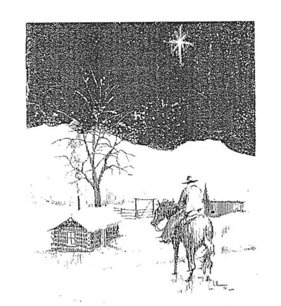 Drawing - Christmas Star by Kevin Heaney