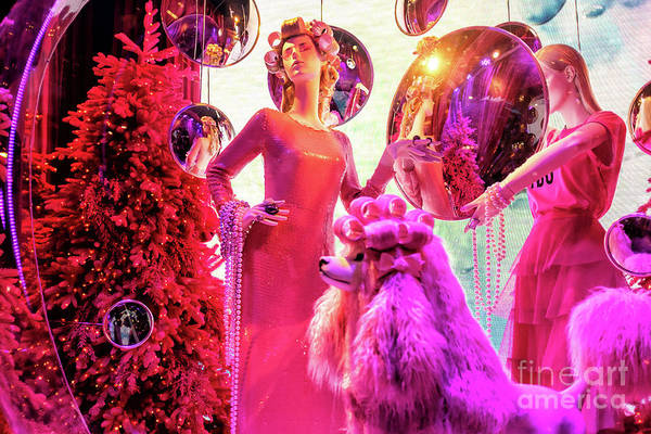 Photograph - Christmas Style At Saks Fifth Avenue In New York City by John Rizzuto