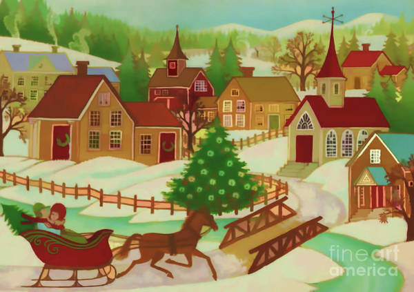 Digital Art - Christmas Town by D Hackett