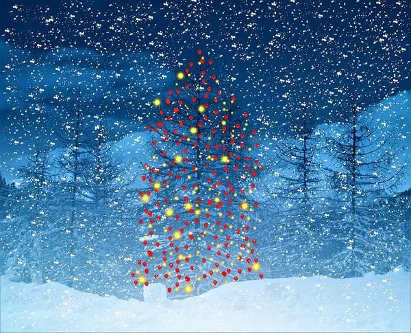 Christmas Tree Digital Art - Christmas Tree Balloon by ArtMarketJapan