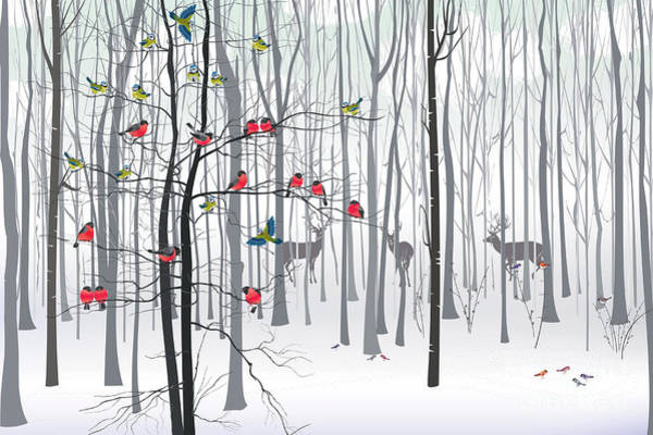 Reindeer Wall Art - Digital Art - Christmas Tree In The Forest by Fresher