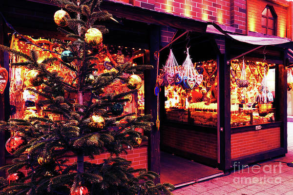 Photograph - Christmas Tree With Decoration  On The Christmas Market by Marina Usmanskaya
