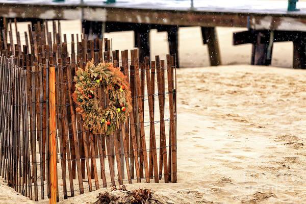 Photograph - Christmas Wreath At Ocean Grove by John Rizzuto