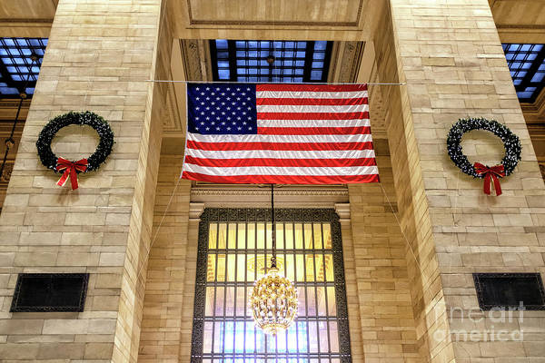 Photograph - Christmas Wreaths At Grand Central Terminal New York City by John Rizzuto