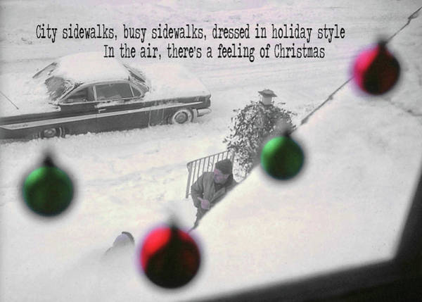 Photograph - Christmastime In The City Quote by Jamart Photography