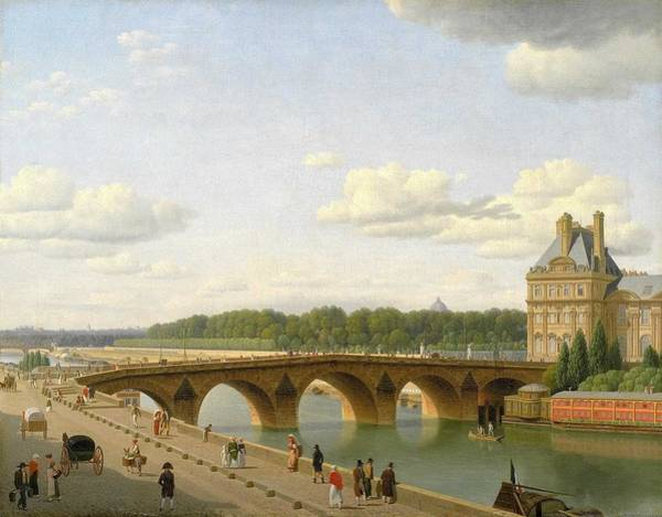Wall Art - Painting - Christoffer Wilhelm Eckersberg -  View Of Pont Royal by Celestial Images