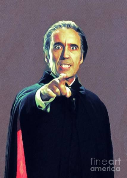 Dracula Painting - Christopher Lee As Dracula by John Springfield
