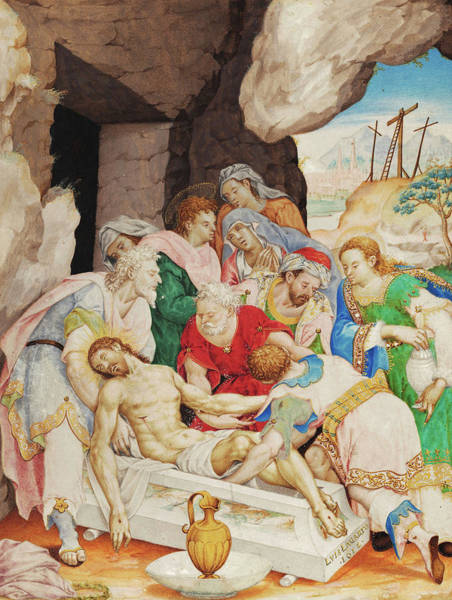 Photograph - Christ's Burial by Luis Lagarto