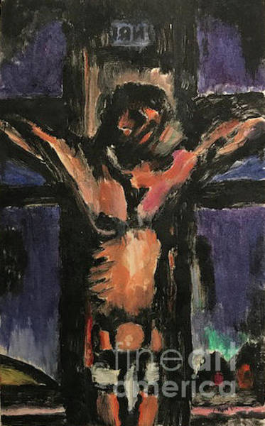 Painting - Crucifixion by Linda Anderson after Georges Rouault