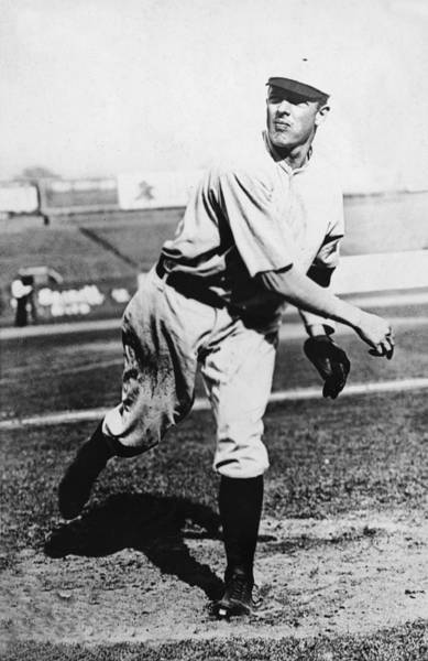 National Baseball Hall Of Fame Photograph - Christy Mathewson In Action by Fpg