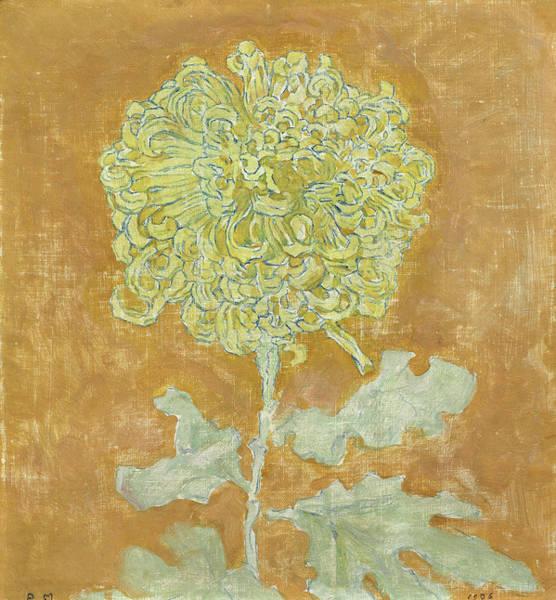 Wall Art - Painting - Chrysanthemum, 1942 by Piet Mondrian