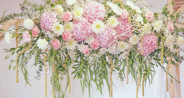 Photograph - Chrysanthemum Dahlias Hydrangea Wedding Decor by Jenny Rainbow