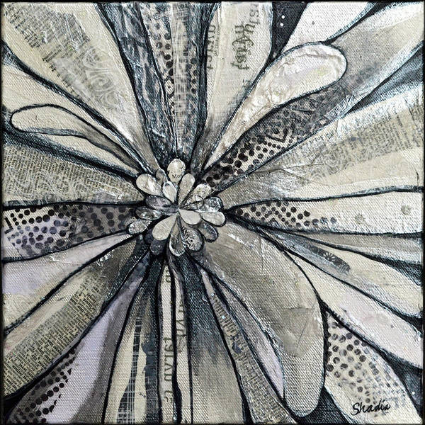 Wall Art - Painting - chrysanthemum I by Shadia Derbyshire