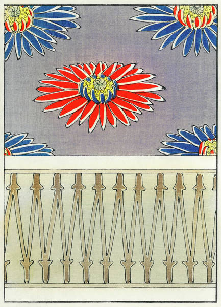 Wall Art - Painting - Chrysanthemum - Japanese Traditional Pattern Design by Watanabe Seitei
