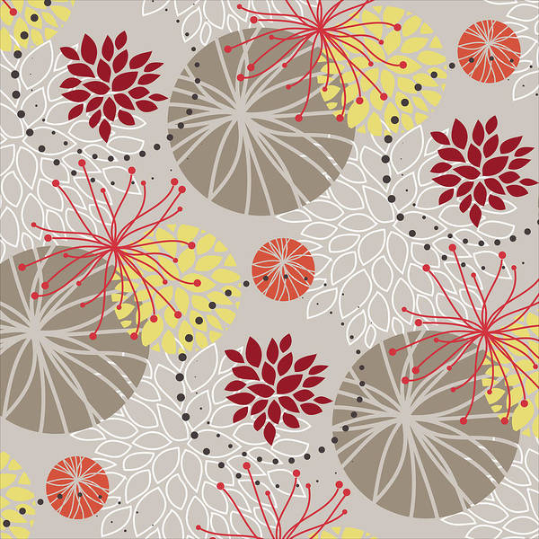 Digital Art - Chrysanthemum Pattern by Garden Gate magazine