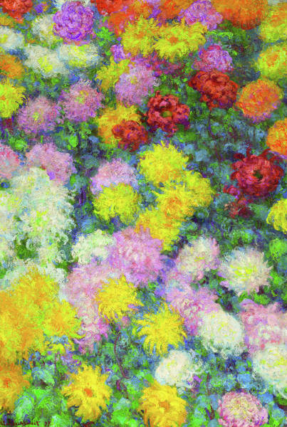 Wall Art - Painting - Chrysanthemums, 19th Century by Claude Monet