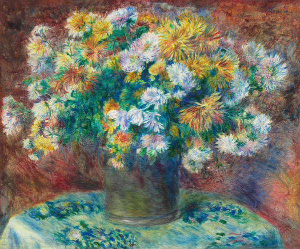 Painting - Chrysanthemums by Auguste Renoir