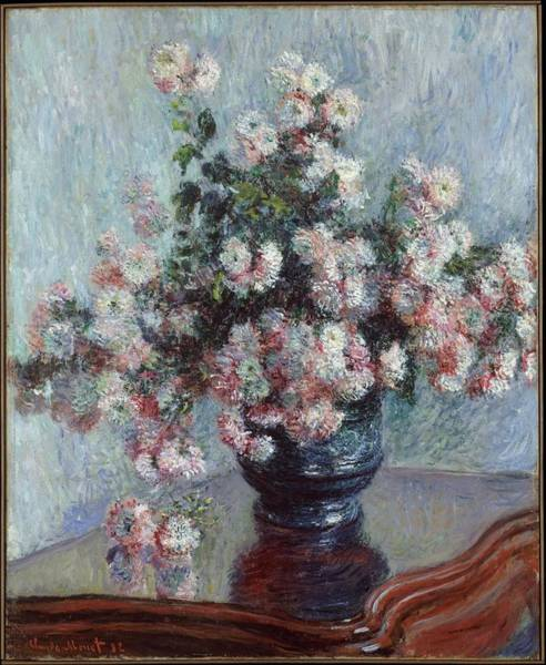 Wall Art - Painting - Chrysanthemums, Claude Monet by Celestial Images