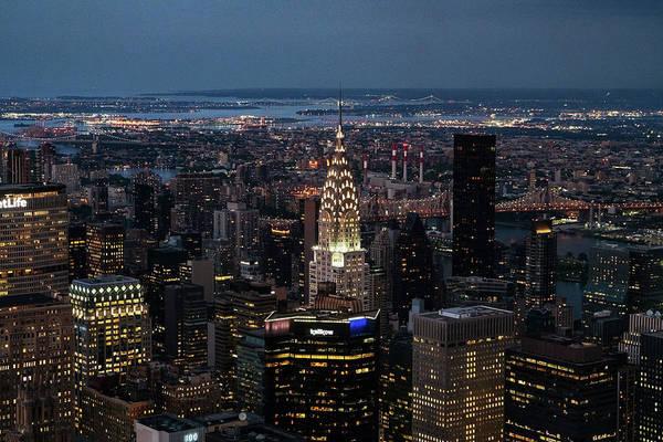 Photograph - Chrysler Building Night by Sharon Popek