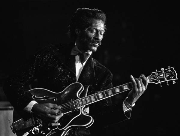 Photograph - Chuck Berry In Concert At The Palladium by George Rose