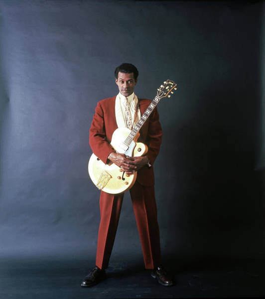Chuck Berry Portrait Session Art Print by Michael Ochs Archives