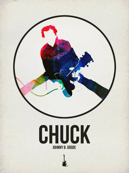 Hard Rock Wall Art - Digital Art - Chuck Berry Watercolor by Naxart Studio