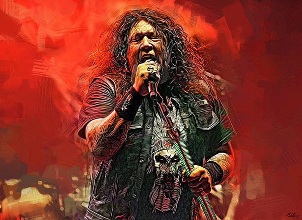 Thrash Metal Wall Art - Mixed Media - Chuck Billy, Testament by Mal Bray