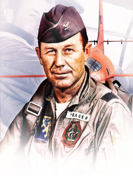 Sound Barrier Wall Art - Digital Art - Chuck Yeager One Of A Kind by Peter Chilelli